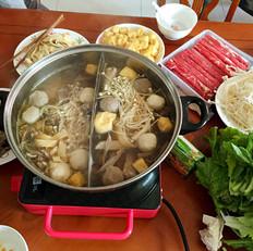 茶树菇鸡汤火锅