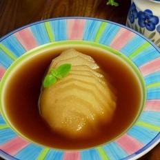 姜汁红糖雪梨