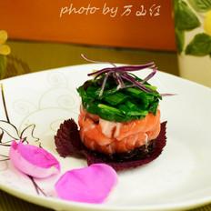 香草韭菜三文鱼