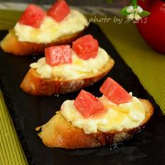 西瓜奶酪小点