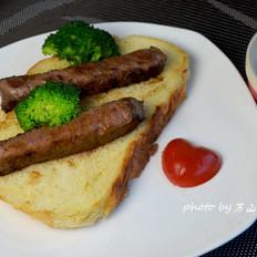香煎牛排面包片