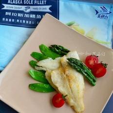香煎阿拉斯加鲽鱼