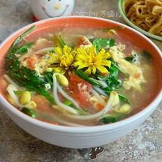 蒲公英蛋汤