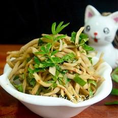 花椒芽拌芥菜丝