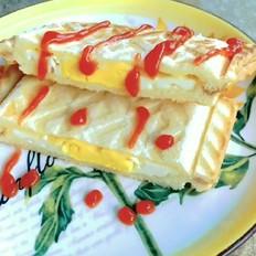 鸡蛋奶酪三明治