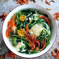 百合花蒲公英蛋汤
