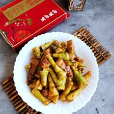 五花肉炒芦苇笋