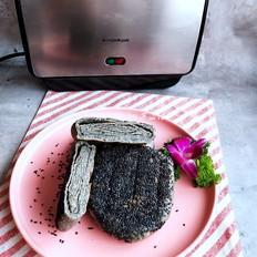 黑芝麻油酥烧饼的做法