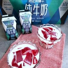 牛奶杨梅冰粉