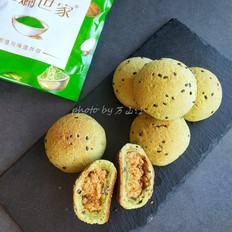 斑斓肉松麻薯包的做法