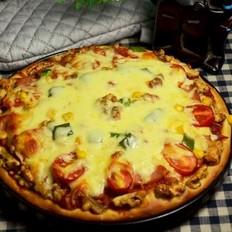 火腿核桃仁披萨
