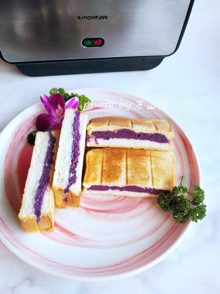 紫薯山药三明治的做法