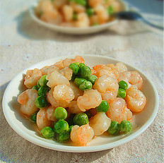 青豆炒虾仁