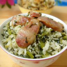 香莴笋叶腊肠菜饭