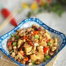 干煸鸡丁豆腐