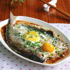 咸蛋蒸黄鱼