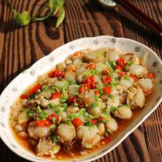 泡椒金针菇蒸扇贝肉