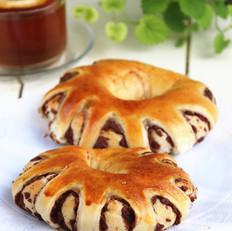 红豆花式面包