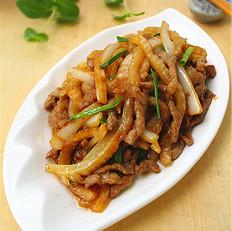 白菜梗炒肉丝