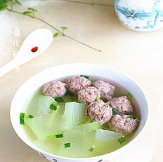 冬瓜虾肉丸子汤