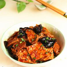 豆腐菌菇炒肉片