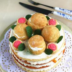 泡芙裸蛋糕