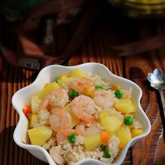 菠萝虾仁饭