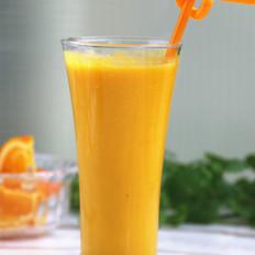 南瓜柳橙牛奶饮