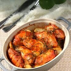 迷迭香烤土豆鸡翅