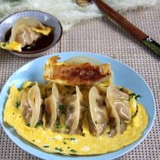 鸡蛋笋丁煎饺