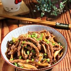 茶树菇黑椒牛肉丝