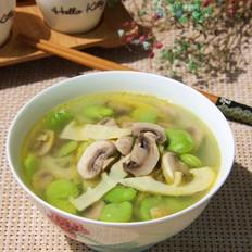 豆瓣蘑菇笋片汤