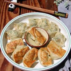 干煎荠菜笋肉馄饨