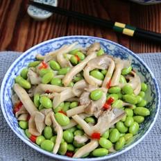 秀珍菇炒毛豆子