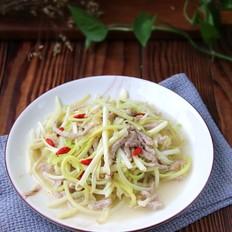 韭菜芽炒肉丝