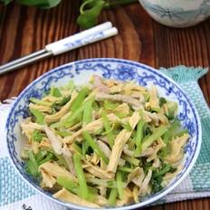 芹菜腐竹炒肉丝