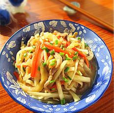 榨菜茭白肉丝