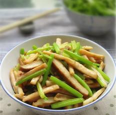 香干芹菜炒鱿鱼