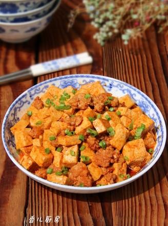 酱烧肉末豆腐的做法