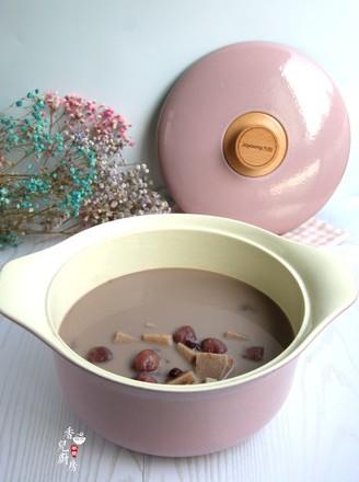 奶香红豆荔枝芋艿甜汤的做法
