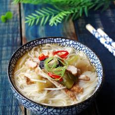 榨菜肉丝米线