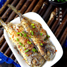 香辣烤鲳鱼