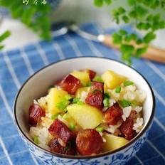 土豆腊肠饭