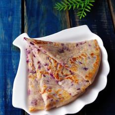 牛奶紫薯饼