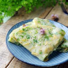 青菜虾皮饼