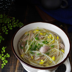 豆芽滑肉汤