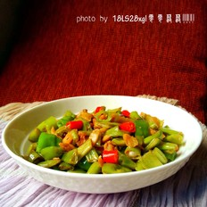 萝卜干炒四季豆