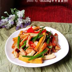 韭菜豆腐干肉丝