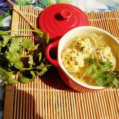香菜肉丸豆芽汤