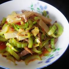 肉丝炒菜薹